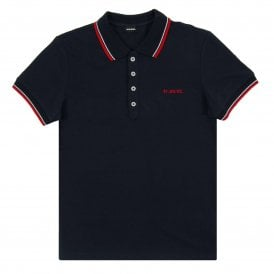 T-Randy-Broken Polo Navy