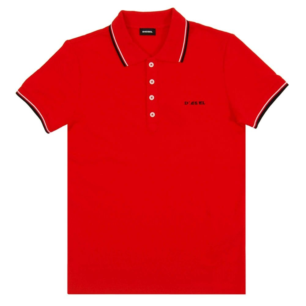 94857fb5 Diesel T-Randy-Broken Polo Red - Mens Clothing from Attic Clothing UK