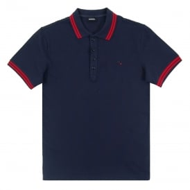 T-Randy Tipped Polo Navy