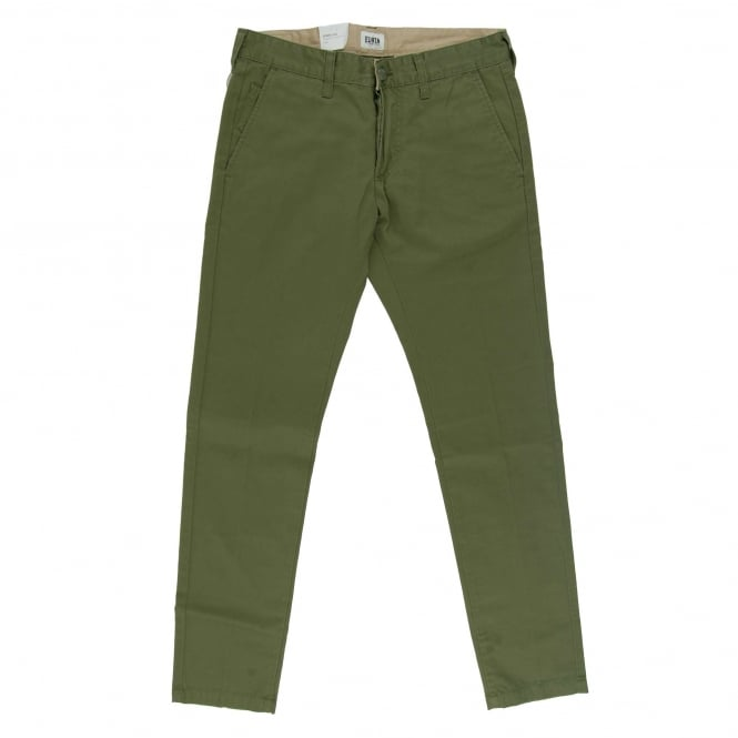 Edwin 55 Chinos Compact Twill Cotton 9oz Military Green