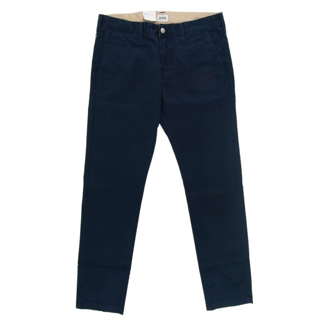 Edwin 55 Chinos Compact Twill Cotton 9oz Navy