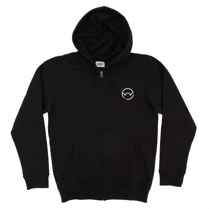 Edwin Classic Hooded Jacket Logo 2 Black