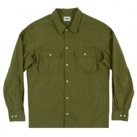 Corporal Shirt Crispy Poplin Military Green