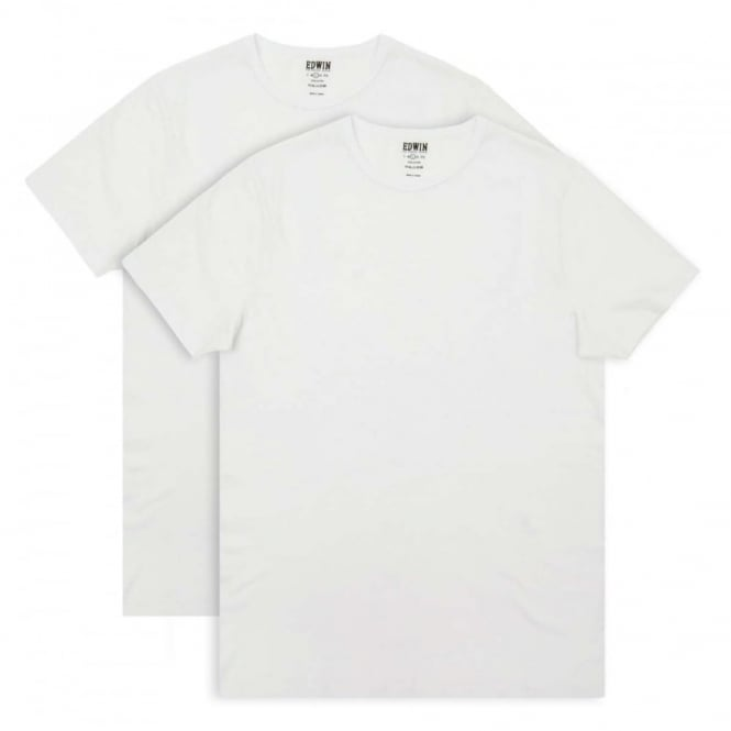 Edwin Double Pack T-Shirt White
