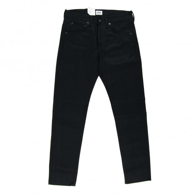 Edwin ED-55 White Listed Black Selvedge Unwashed 13oz
