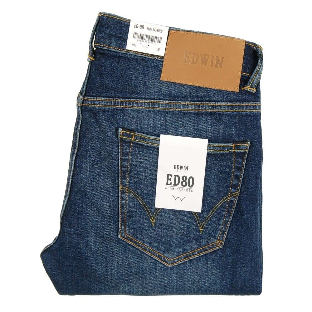 fda07643 Edwin ED-80 Jeans CS Red Listed Selvedge Blast Wash 10.5oz - Mens ...