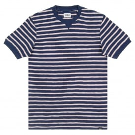 International Tee Stripe Navy Pink
