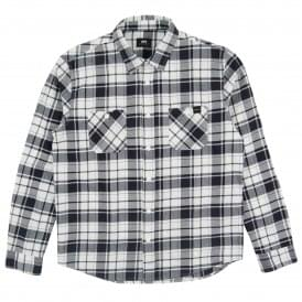 Labour Light Flannel Check Shirt Navy White