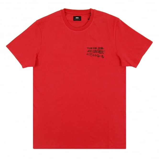 Edwin Mind Control T-Shirt Washed Red