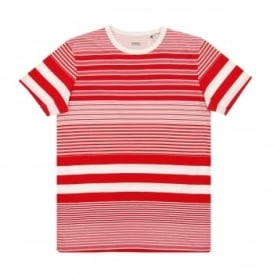 Mixed Stripe T-Shirt Red