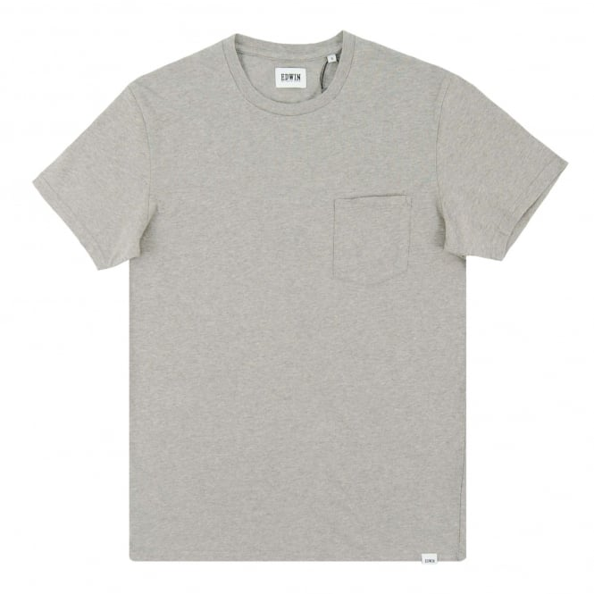Edwin Pocket T-Shirt Grey Marl