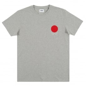 Red Dot Logo 2 T-Shirt Grey Marl