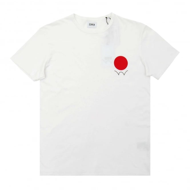 Edwin Red Dot Logo 2 T-Shirt White