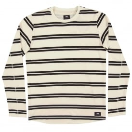 Terry Stripe Tee Long Sleeve Natural Black