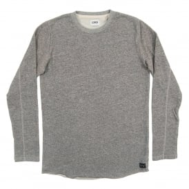 Terry Tee Long Sleeve Dark Heather Grey