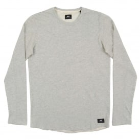 Terry Tee Long Sleeve Grey Marl