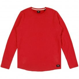 Terry Tee Long Sleeve Washed Red