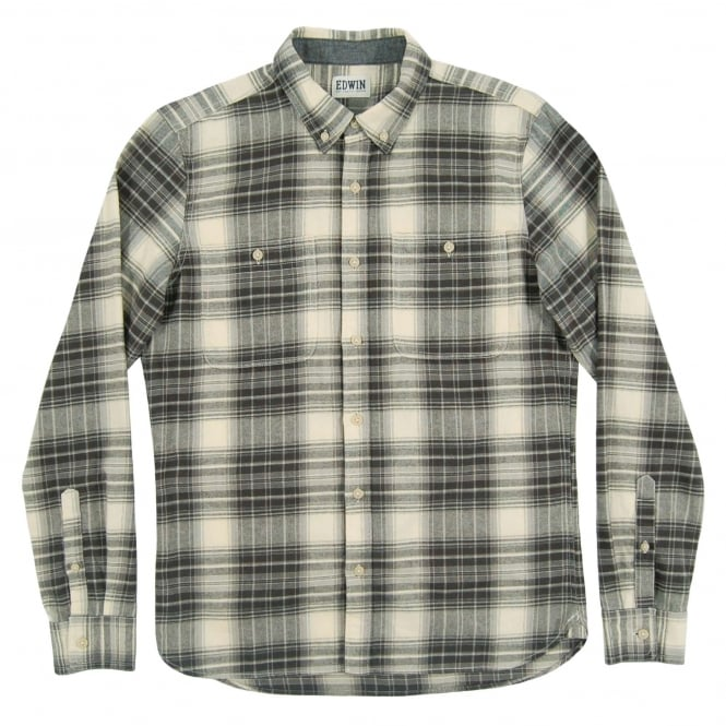 Edwin Triple 10 Check Shirt Grey