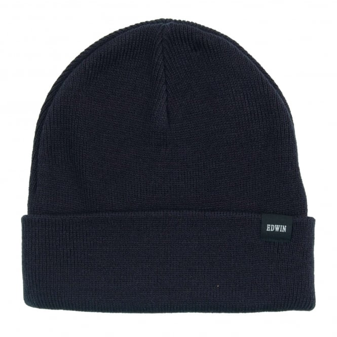 Edwin Watch Cap Beanie Navy