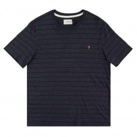 Aidan Dot Stripe T-Shirt True Navy