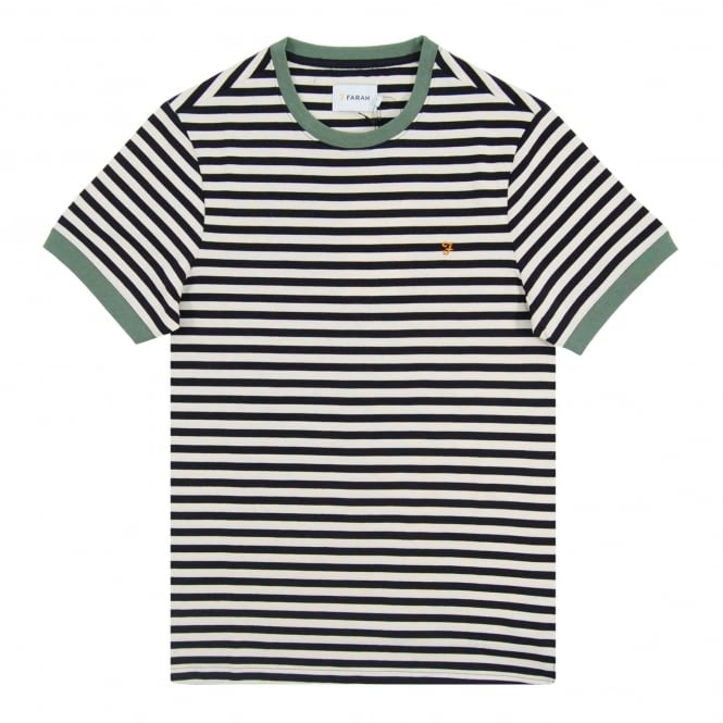 Farah Ally SS Stripe T-Shirt True Navy White