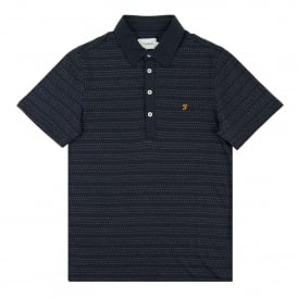 Bentley Dot Stripe Polo True Navy