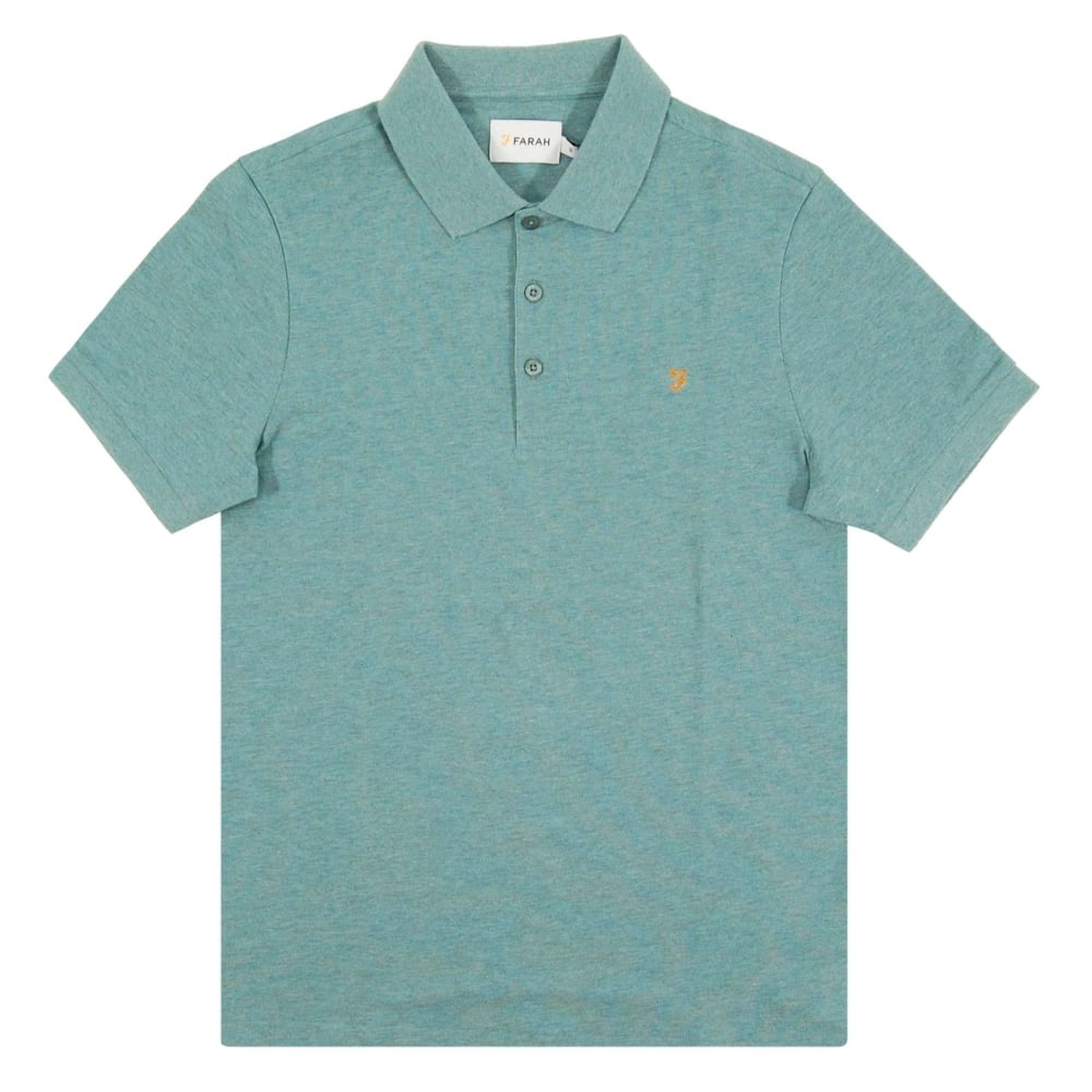 20085094ee5 Farah Blaney SS Polo Nile Green Marl - Mens Clothing from Attic Clothing UK