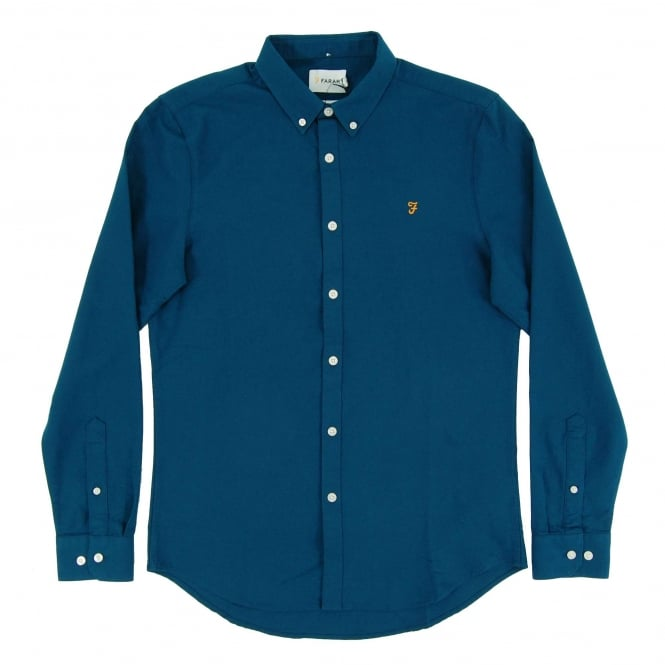 Farah Brewer Oxford Shirt Poseidon