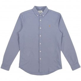 Brewer Oxford Shirt Steel Blue