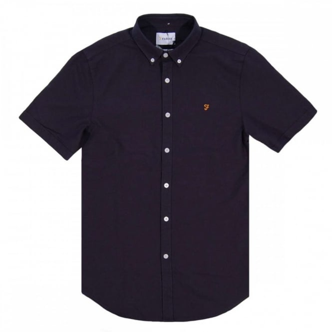 Farah Brewer SS Oxford Shirt Navy