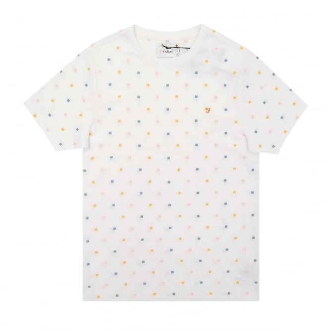 Farah Chantry Embroidered T-Shirt White