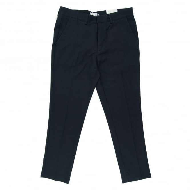 Farah Denby Rigid Hopsack Trouser True Navy