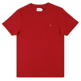 Denny Marl T-Shirt Warm Red Marl