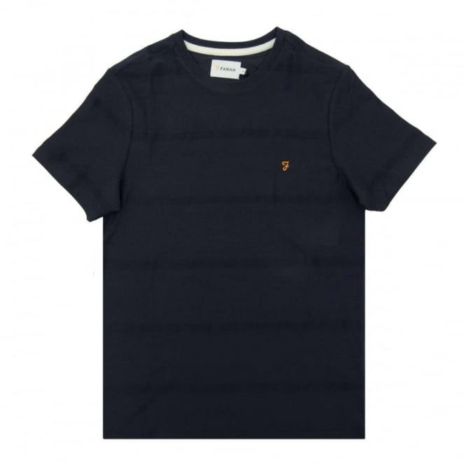 Farah Duchy Texture Stripe T-Shirt True Navy