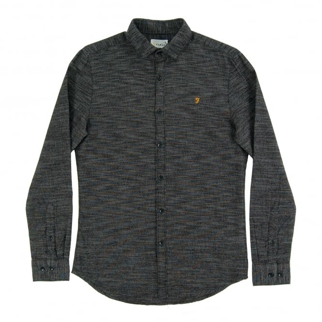 Farah Elsworth Two Tone Shirt Black