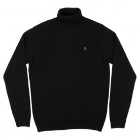Gosforth Roll Neck Jumper Black