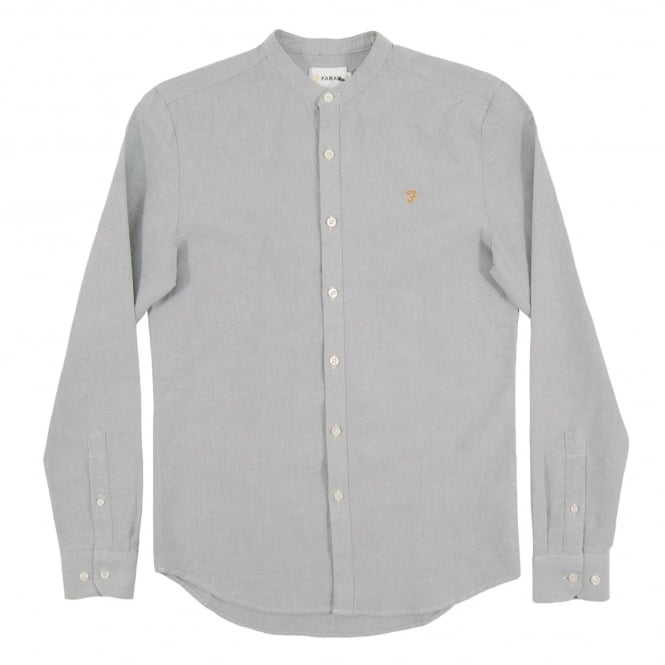 Farah Grandad Brewer Oxford Shirt Anthracite