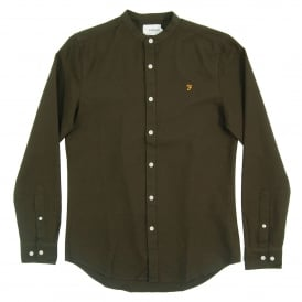 Grandad Brewer Oxford Shirt Evergreen