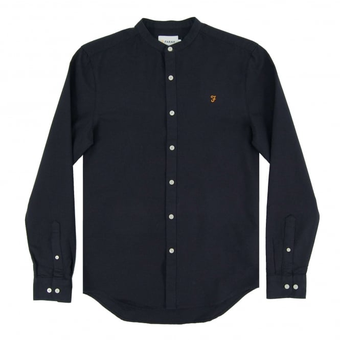 Farah Grandad Brewer Oxford Shirt Navy