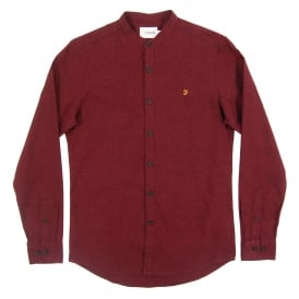 Grandad Steen Shirt Bordeaux