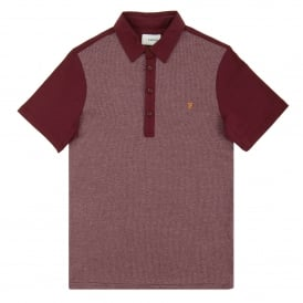 Hammond Pattern Polo Bordeaux