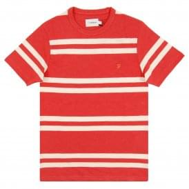 Hewitt Stripe T-Shirt Red Coat