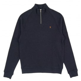 Jim 1/4 Zip Sweat True Navy Marl