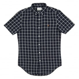 Johnson SS Check Shirt True Navy