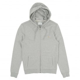 Kyle Zip Hoody Light Grey Marl