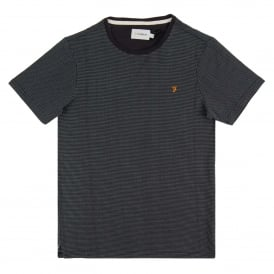 Lawrence Jacquard T-Shirt True Navy