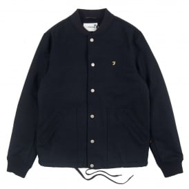 Leinster Wool Bomber Jacket True Navy