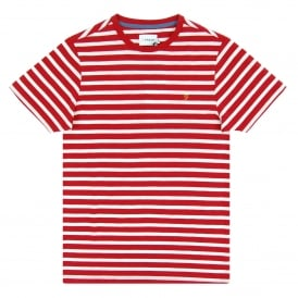 Lennox Stripe T-Shirt Deep Red Marl