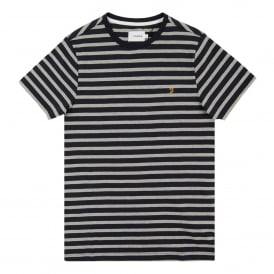 Lennox Stripe T-Shirt Light Grey Marl
