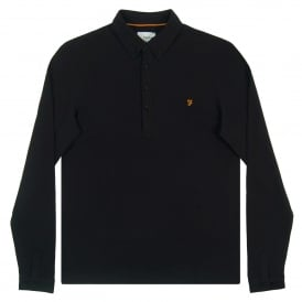 Merriweather Long Sleeve Polo Black